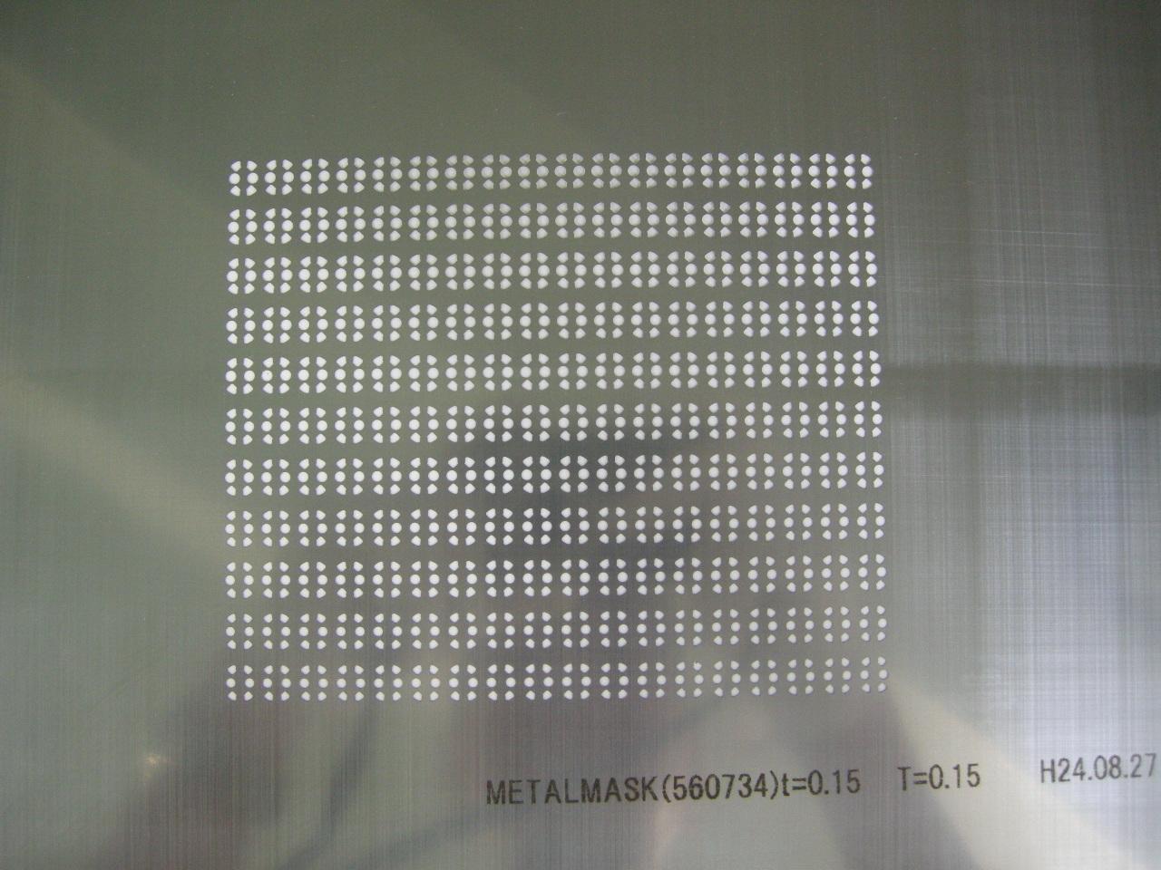 レーザーメタルマスクのイメージ